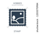 stamp icon. high quality filled ... | Shutterstock .eps vector #1203370984
