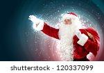 christmas theme with santa... | Shutterstock . vector #120337099