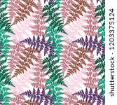 fern frond herbs  tropical... | Shutterstock .eps vector #1203375124