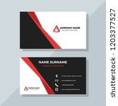 professional business card with ... | Shutterstock .eps vector #1203377527