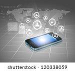 modern communication technology ... | Shutterstock . vector #120338059