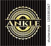 ankle gold shiny badge | Shutterstock .eps vector #1203381067