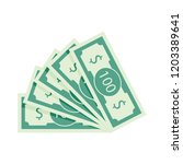 fan of banknotes vector one... | Shutterstock .eps vector #1203389641