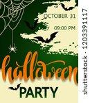 halloween party poster....   Shutterstock .eps vector #1203391117