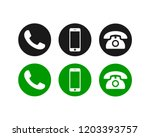 phone icon vector. call icon... | Shutterstock .eps vector #1203393757