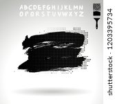 black brush stroke and...   Shutterstock .eps vector #1203395734