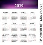 calendar 2019 year on a white...   Shutterstock .eps vector #1203397714