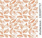 seamless foliage pattern. gold...   Shutterstock .eps vector #1203397717