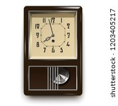 vintage mechanical wall... | Shutterstock . vector #1203405217