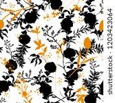 black and white modern... | Shutterstock .eps vector #1203423064