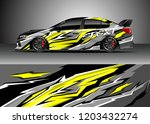 racing car wrap design vector.... | Shutterstock .eps vector #1203432274