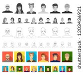 avatar and face flat icons in...   Shutterstock .eps vector #1203436921