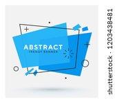 modern abstract vector banner.... | Shutterstock .eps vector #1203438481