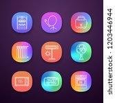 household appliance app icons... | Shutterstock .eps vector #1203446944