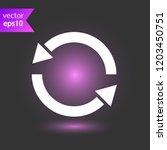 refresh icon. reload sign. undo ...   Shutterstock .eps vector #1203450751