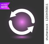 refresh icon. reload sign. undo ...   Shutterstock .eps vector #1203450811