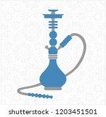 hookah  nargile  hubble bubbly  ... | Shutterstock .eps vector #1203451501