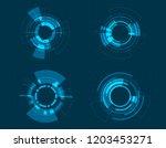 vector icon set technology... | Shutterstock .eps vector #1203453271