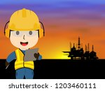 visual drawing of cartoon at... | Shutterstock .eps vector #1203460111