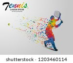 visual drawing tennis sport... | Shutterstock .eps vector #1203460114