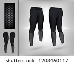 visual drawing of model pants... | Shutterstock .eps vector #1203460117