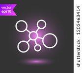 molecule icon. dna vector icon. ... | Shutterstock .eps vector #1203463414