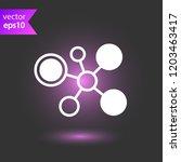 molecule icon. dna vector icon. ... | Shutterstock .eps vector #1203463417