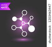 molecule icon. dna vector icon. ... | Shutterstock .eps vector #1203463447