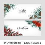 set of horizontal holiday... | Shutterstock .eps vector #1203466081