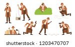 bundle of detective with... | Shutterstock .eps vector #1203470707