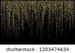 garland lights gold glitter... | Shutterstock .eps vector #1203474634