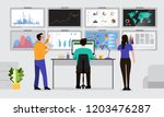the teamwork together working... | Shutterstock .eps vector #1203476287