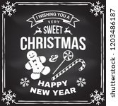 i wish you a very sweet... | Shutterstock .eps vector #1203486187