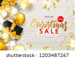 christmas sale poster with... | Shutterstock .eps vector #1203487267