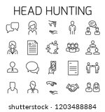 headhunting related vector icon ... | Shutterstock .eps vector #1203488884