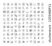 set of strategy thin line icons.... | Shutterstock .eps vector #1203488911