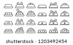 dog bowl vector icon logo... | Shutterstock .eps vector #1203492454