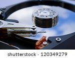hard drive close up