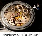 old clock mechanism  vintage... | Shutterstock . vector #1203493384