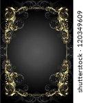 golden frame on a black... | Shutterstock .eps vector #120349609