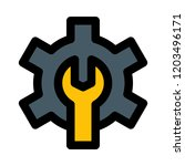cog and wrench | Shutterstock .eps vector #1203496171
