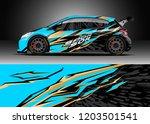 racing car wrap design vector....   Shutterstock .eps vector #1203501541