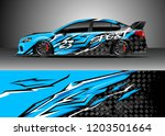 racing car wrap design vector....   Shutterstock .eps vector #1203501664