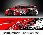 racing car wrap design vector.... | Shutterstock .eps vector #1203501754