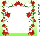 vector card with red flowers | Shutterstock .eps vector #120350509