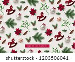decorative christmas background ... | Shutterstock .eps vector #1203506041