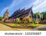 Old Wooden Church Of Wat Lok...