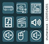contains such icons as bus ... | Shutterstock .eps vector #1203514201