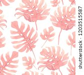 watercolor pattern of pink... | Shutterstock . vector #1203515587