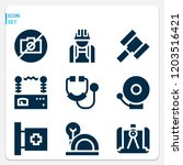 simple set of  9 filled icons... | Shutterstock .eps vector #1203516421
